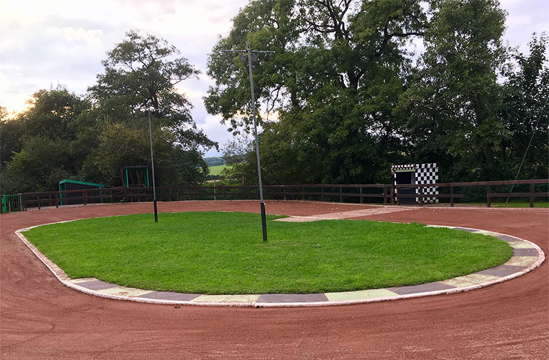 Cycle speedway track in underwood