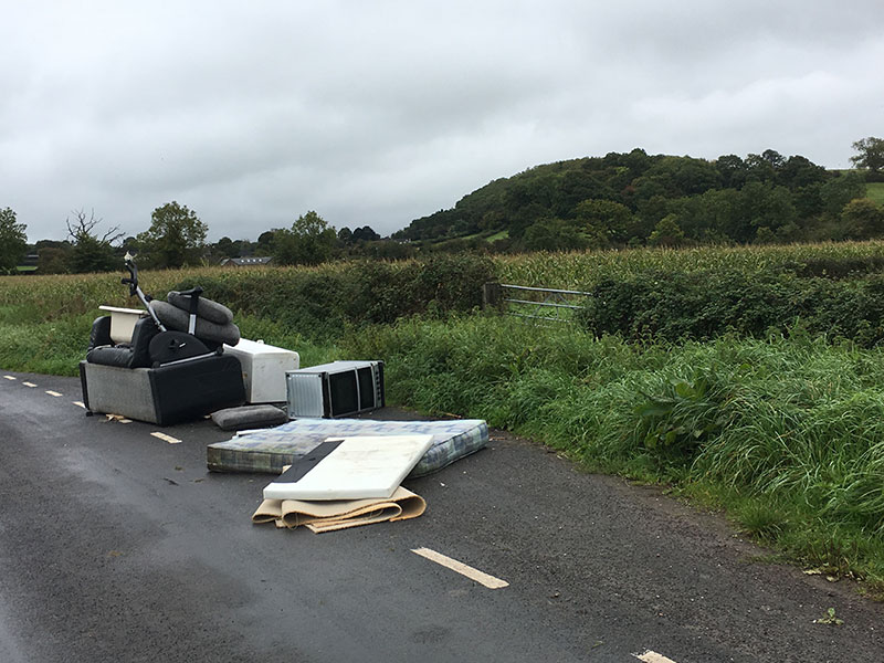 Fly Tipping in Wilcrick September 2017