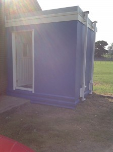 changing room exterior